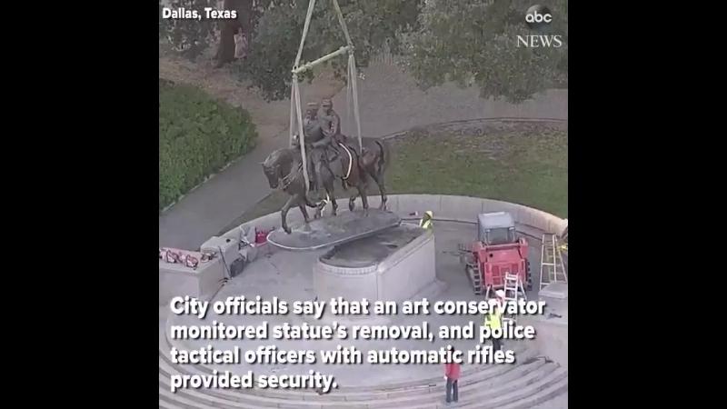 14 сентября.....сняли....Статуя генерала Роберта Э.Ли удалена из парка Далласа....