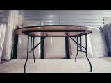 Как сложить круглый стол