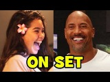 MOANA Behind The Scenes With The Cast (Movie B-Roll &amp Bloopers) - Dwayne Johnson, Auli'i Cravalho