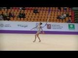 Karina Kuznetsova (RUS)  ribbon  Grand Prix Moscow 2017