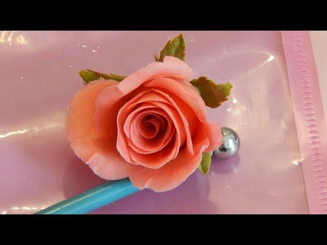 Быстрая роза из холодного фарфора МК Раскрытая роза ускоренный метод лепки бу