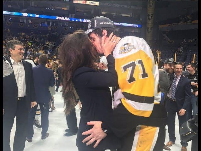 Фантастически красивый поцелуй Анны Кастеровой и Евгения Малкина