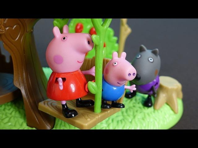 Peppa Pig Français Peppa George et leurs amis vont visiter YooHoo George aide à faire balançoire