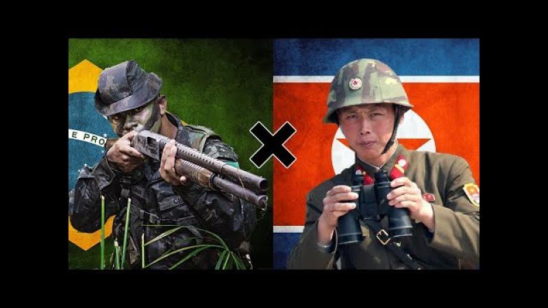 Brasil x Coreia do Norte - Comparação Militar