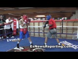 Mikey Garcia vs Marcos Maidana Sparring - esnews boxing