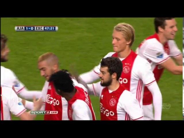 Ajax 1-0 Excelsior (Goal Ziyech)