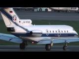 Friendly All Vologda Air pilot crew waving Як-40 RA-87905 classic cs takeoff VKO