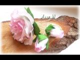 МК Роза из зефирного фоамирана на шпильке.