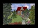 Сад в альпийском стиле с домом ШАЛЕ