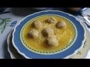 Воскресный обед Суп с курочкой Сметаный соус и хлебные галушки