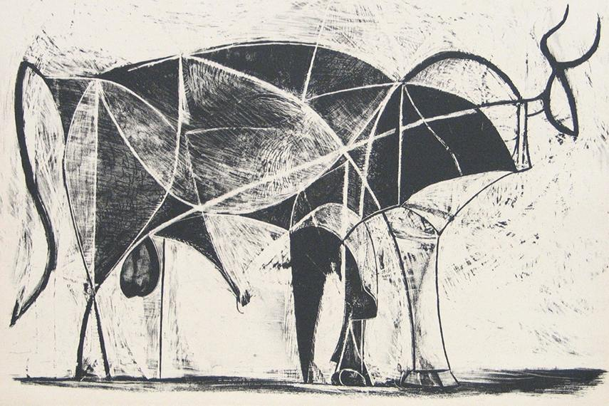 Пабло Пикассо – Бык, 1945