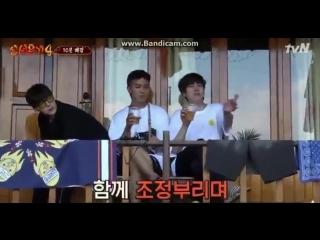 Mino and Kyuhyun jamming to BLACKPINK