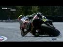 Sparks fly as Aleix Espargaro slides out at