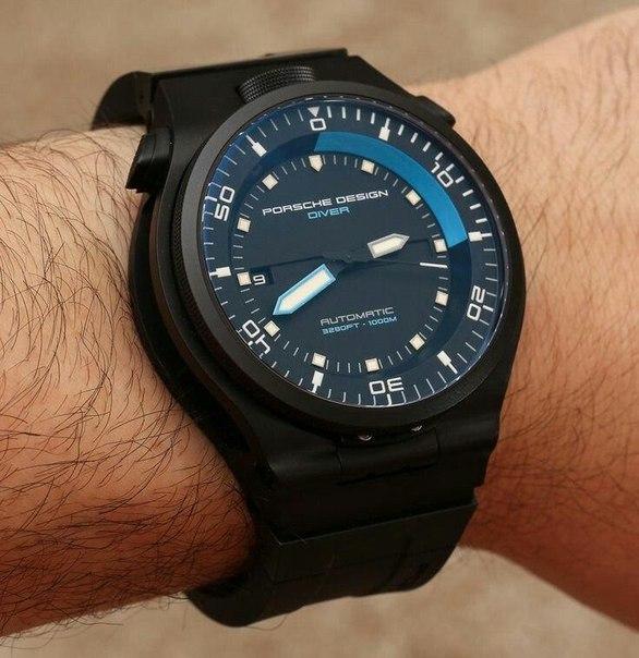 Противоударные, водонепрницаемые часы PORSCHE DESIGN DIVER с титановым корпусом и сапфировым стеклом!