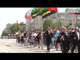 Многотысячный первомайский парад трудящихся в Луганске