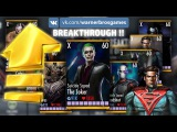 All Injustice Mobile characters maxed up to X elite 60 level after Breakthrough mode SlideShow