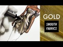 GOLD FABRIC SMOOTH TEXTURES Marchesa Fashion Drawing