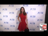 Lyndsy Fonseca at the Rather Go Naked Than Wear Fur Opening Night Of PETAs Naked Ambition Exhibit h