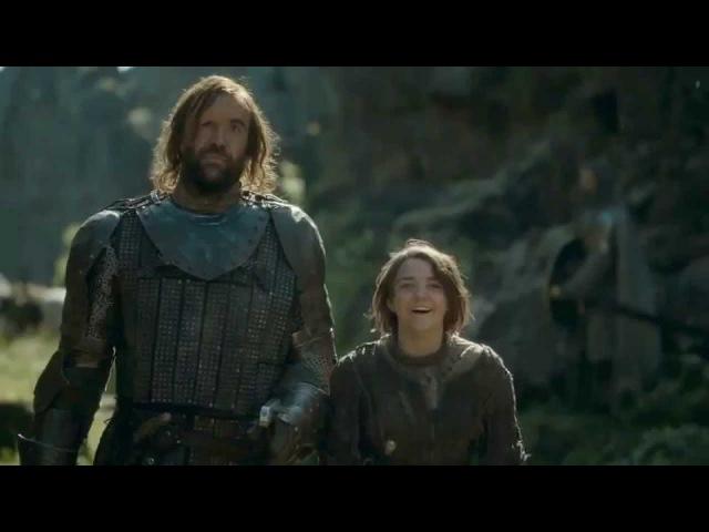Arya Stark's reaction to Lysa Arryn's Death/Laugh