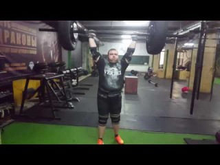 Axle 133 kg for 4 reps. Nikita Golovan