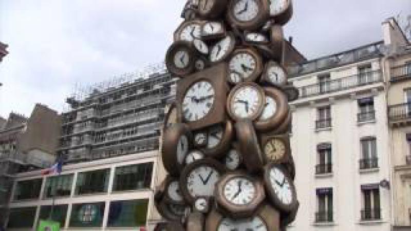 L'Accumulation d'Horloges, l'heure de Tous, Pierre Fernandez Armand, Gare Saint Lazare, Paris