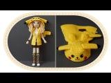 Девушка Пикачу крючком, часть 13 (Кофта, часть 2). Crochet Pikachu girl, part 13 (hoodie, part 2).