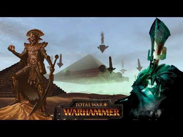 Settra and the Tomb Kings vs. Nagash at the Black Pyramid - Total War Warhammer Multiplayer Battle