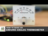 Arduino Tutorial: How to make an analog Thermometer with Arduino a DS18B20 and an analog Voltmeter