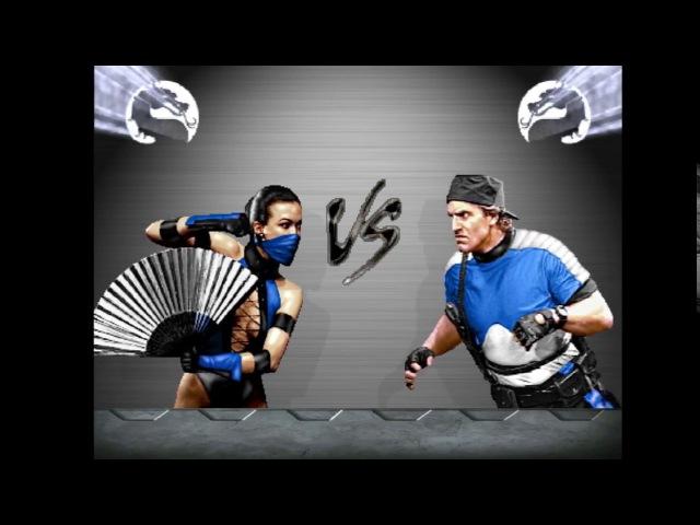 Kitana Sindel vs Stryker Tremor. Mortal Kombat CPU vs CPU. 1st Tag Team Cup. 1/4 Final
