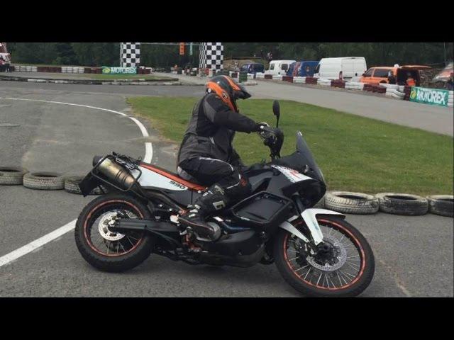 Ktm 990 Adventure Drift and Wheelie
