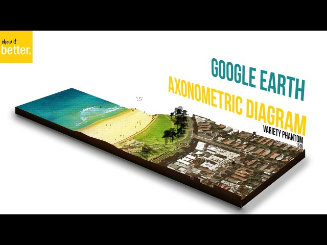Google Earth Architecture Illustration -Architectural Presentation- Photoshop Only