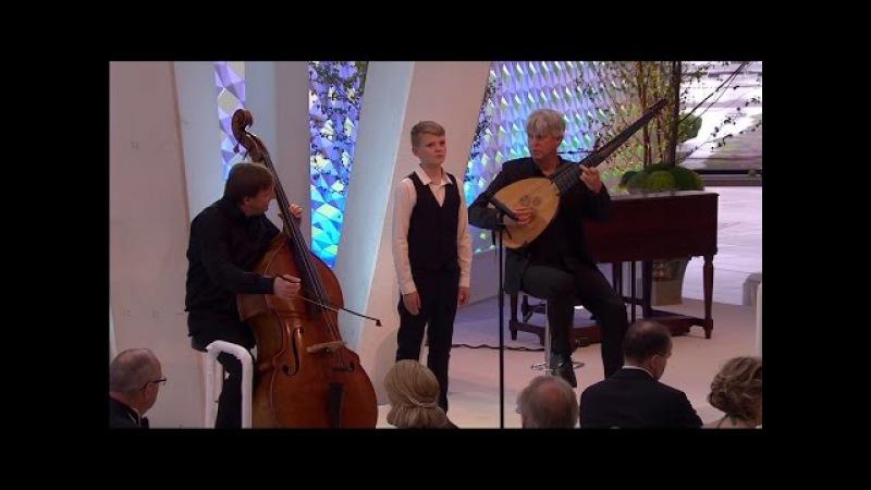 Lascia ch'io pianga (Handel)   boy soprano Aksel Rykkvin (14y), Rolf Lislevand, Knut Erik Sundquist