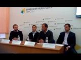 Василь Гацько (Vasyl Gatsko) на прес-конференції в м. Херсоні