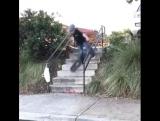 boardslide по рейлу в 7 ступ в 6 лет!