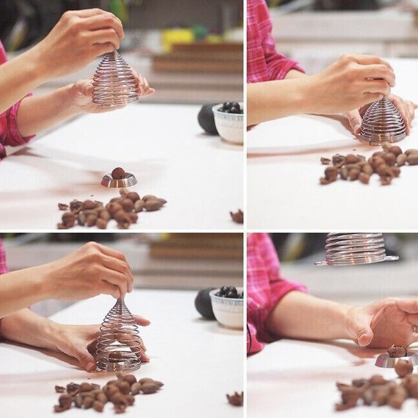 Необычное устройство для колки орехов!  https://ru.aliexpress.com/store/product/Red-Creative-Funny-Spring-Walnut-Cracker-Metal-Nutcracker-Walnut-Stainless-Steel-Nut-Crackers-Nutcrackers-Nuts-Opener/1940551_32660754430.html?detailNewVersion=&categoryId=100003249