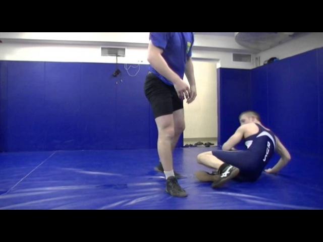 Интересный прием. Проход в одну ногу со сбиванием (редко используемый). freestyle wrestling training bynthtcysq ghbtv. ghj[jl d