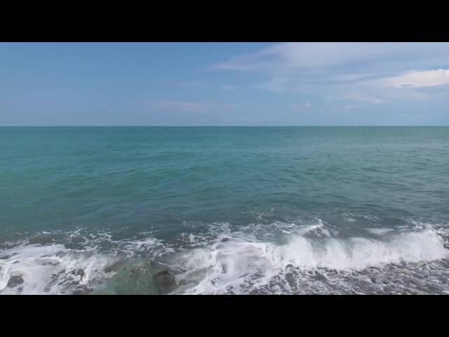 Расслабляющее море Волны ветер камни звук прибоя Видео для медитации