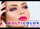 TUTORIAL 3D MULTICOLOUR MAKEUP AQUARELL TECHNIQUE by Emese Backai freelance makeup trainer