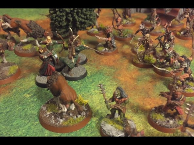 Hobbit SBG Battle Report 13 - 550 pts Fellowship vs Azog's Hunters