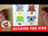 Feed the Animals #2 Activity for Kids Maple Leaf Learning Playhouse