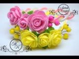 ??Ободок с цветами из фоамирана/фома.Быстро,просто и красиво!??