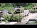Gegen russische Bedrohung NATO Manöver Saber Strike im Baltikum