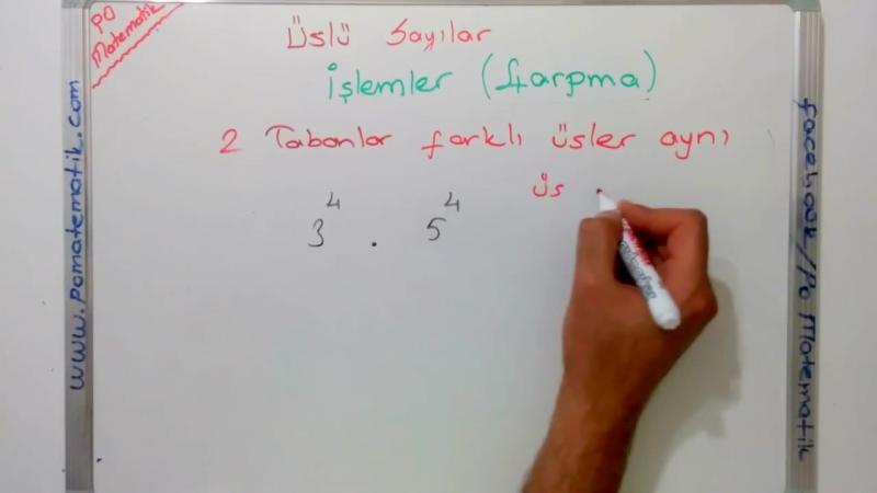 8. Sınıf Üslü Sayılar Çarpma İşlemi (TEOG 1. SINAV)