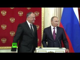 Пресс-конференция президентов Молдавии и России