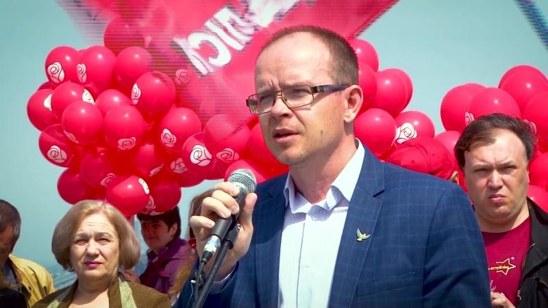 Виступ Владислава Котляра на першотравневій демонстрації у Києві