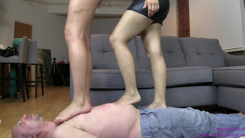 Amadahy and Noe Meet a Foot Freak feet worship trampling fetish smother domination trample licking sniffing