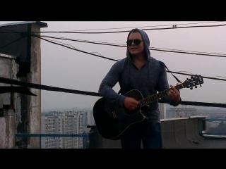 Петр Брок - выступление на крыше небоскрёба