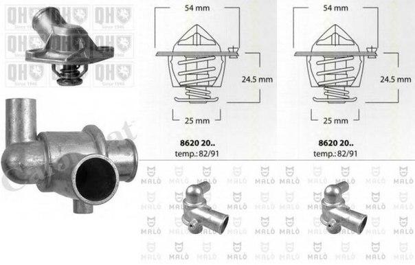 Термостат, охлаждающая жидкость для ALFA ROMEO 75 (162B)