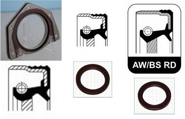 Уплотняющее кольцо, коленчатый вал для ALFA ROMEO BRERA