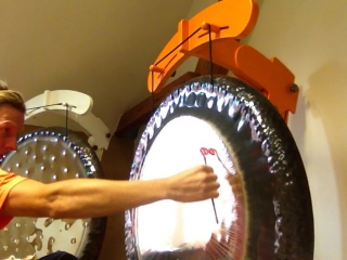 Playing a Gong